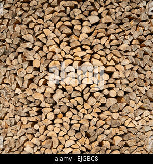 Wooden logs cut composition - Stock Photo