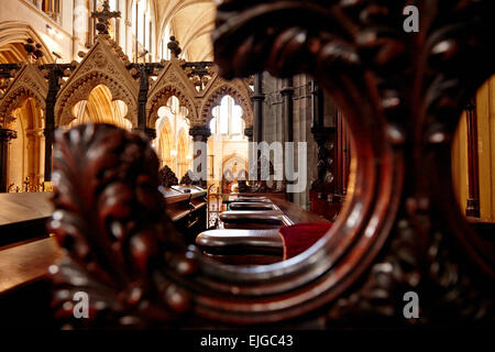 Innerview of Christ Church Cathedral, Dublin, Ireland - Stock Photo