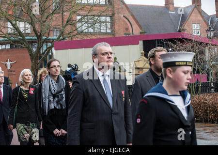 Leicester, UK. 26th March 2015. Richard Buckley, head archaeologist,University of Leicester. Credit:  John Henwood/Alamy - Stock Photo