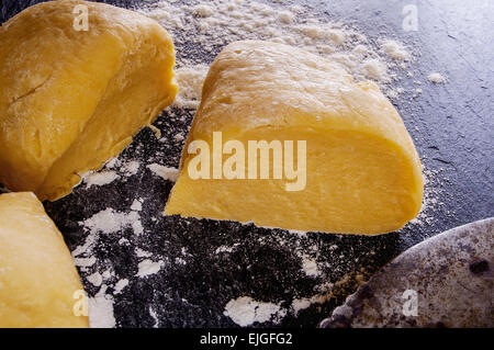 dough for homemade pasta - Stock Photo