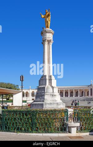 Sanctuary of Fatima, Portugal. Sacred Heart of Jesus Monument. - Stock Photo