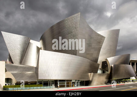 Walt Disney Concert Hall (Frank Gehry, architect), Los Angeles, California USA - Stock Photo