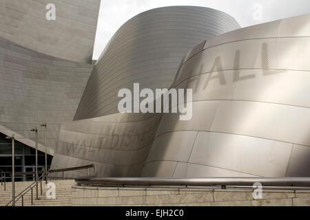 Detail, Walt Disney Concert Hall (Frank Gehry, architect), Los Angeles, California USA - Stock Photo