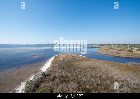 A view of Pensacola Bay at Big Lagoon State Park in Pensacola, Florida - Stock Photo