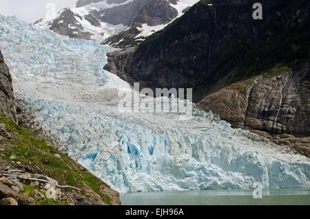 The Serrano glacier in southern Patagonia, Chile - Stock Photo