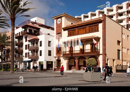 Town Hall or Ayuntamiento in the Plaza de las Americas, San Sebastián de la Gomera, La Gomera, Canary Islands, Spain - Stock Photo