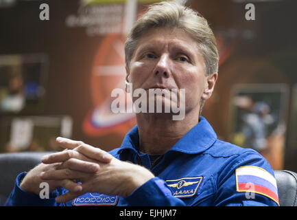 Baikonur, Kazakhstan. 26th Mar, 2015. Russian austronaut Gennady Padalka (RSA), a member of the main crew of Expedition - Stock Photo