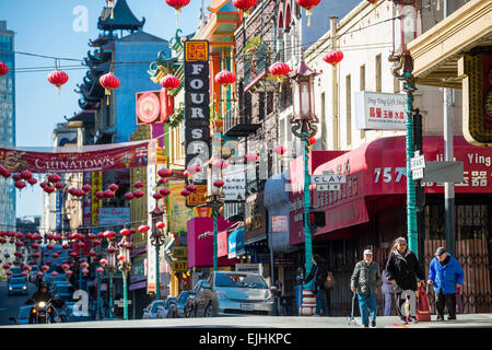 China Town, San Francisco, California, USA - Stock Photo