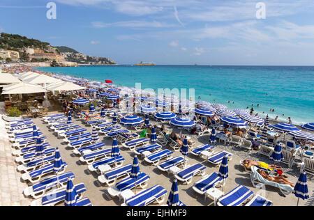 France, Cote d'Azur, Nice, the beach - Stock Photo