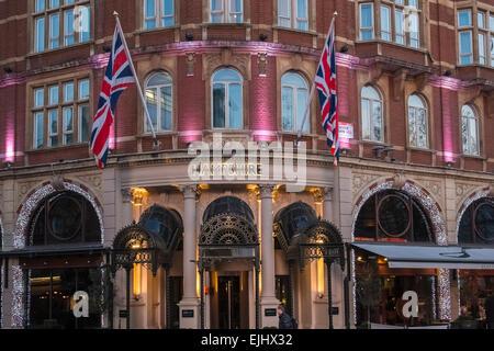 Radisson Hampshire Hotel entrance, Leicester Square, London, England UK - Stock Photo