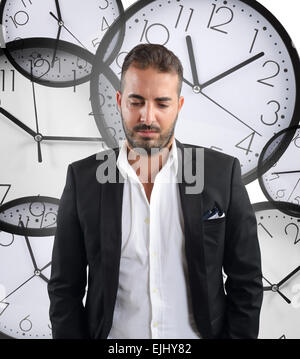 Laggard businessman - Stock Photo