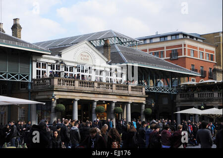 London England UK -  Covent Garden Punch and Judy bar - Stock Photo