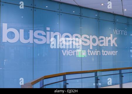 Urban living, Vienna Business Park, Vienna Twin Tower, Wienerberg City, Wien, Vienna, Austria - Stock Photo