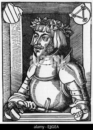 Ulrich von Hutten (21 April 1488 – 29 August 1523), was a German scholar, poet and reformer - Stock Photo