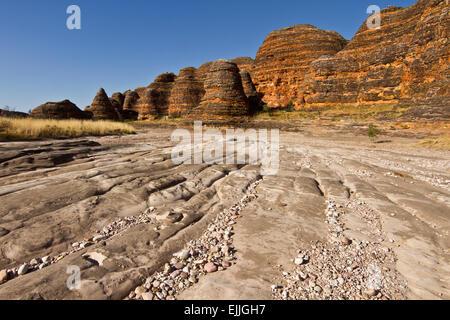 Piccaninny Creek, Bungle Bungles, Purnululu National Park, The Kimberley, Western Australia - Stock Photo