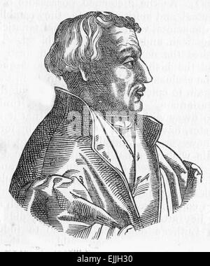 Martin Bucer (1491 – 1551), a Protestant reformer based in Strasbourg who influenced Lutheran, Calvinist, and Anglican - Stock Photo