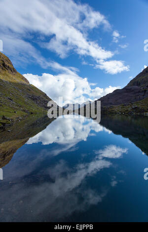 Lough Cummeenoughter, Ireland's highest lake, on the slopes of Carrauntoohil. MacGillycuddy's Reeks, County Kerry, - Stock Photo