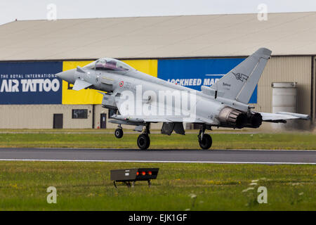 Italian Air Force Typhoon at The Royal International Air Tattoo 2014. - Stock Photo
