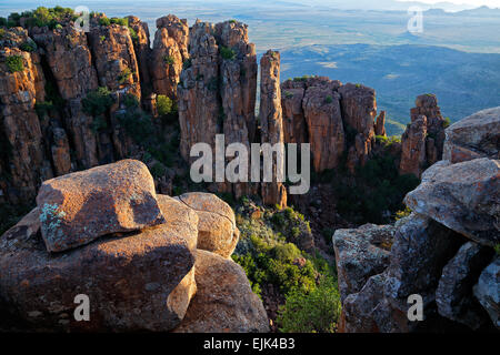 Valley of desolation, Camdeboo National Park, South Africa - Stock Photo