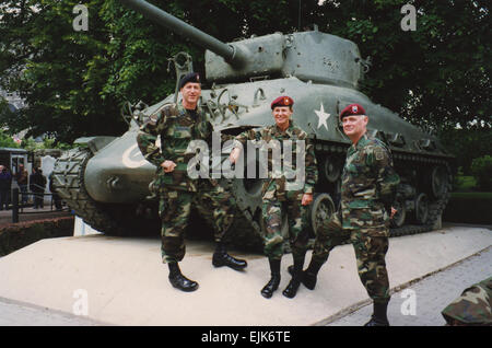 Lt. Col. Ann Dunwoody poses in Normandy, France in 1994 for the 50th Anniversary of the invasion of Europe. Lt. - Stock Photo