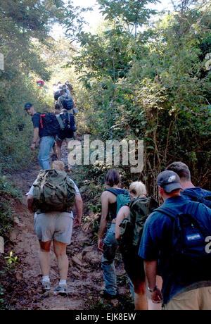 LA SAMPEDRANA, Honduras - Airman, Soldiers and Sailors from Joint Task Force-Bravo at Soto Cano Air Base, Honduras, - Stock Photo