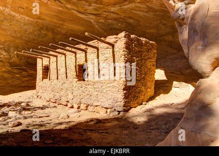 Dollhouse Anasazi Ruin near Cedar Mesa in Southeastern Utah - Stock Photo