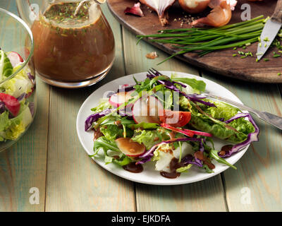 Balsamic honey vinaigrette - Stock Photo