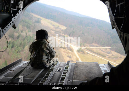 An U.S. Soldier of Easy Company, 1st Battalion Airborne, 503rd Infantry Regiment, 173rd Airborne Brigade Combat - Stock Photo