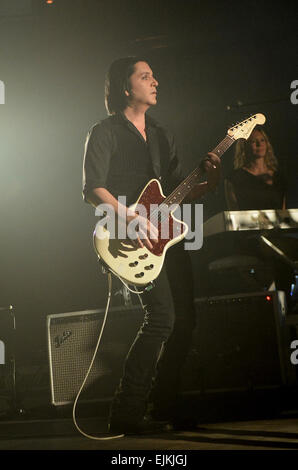 2014 iTunes Festival - Day 23 - Placebo perform live at the Roundhouse in London  Featuring: Brian Molko,Placebo - Stock Photo