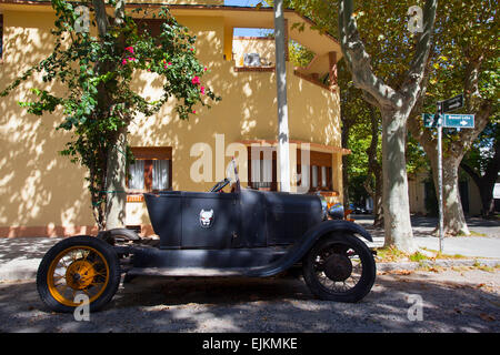 Vintage car in Colonia del Sacramento. Uruguay. - Stock Photo