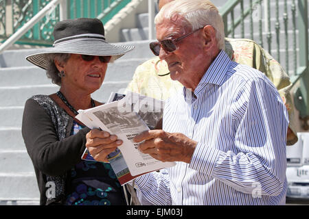 Hallandale Beach, Florida, USA. 28th Mar, 2015. March 28, 2015: Scenes from Florida Derby Day at Gulfstream Park - Stock Photo