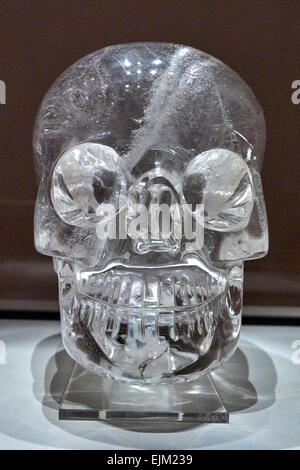 The crystal skulls are human skull hardstone carvings made of clear