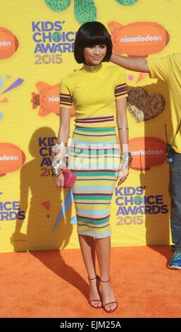 Los Angeles, CA, USA. 28th Mar, 2015. Zendaya at arrivals for Nickelodeon's 28th Annual Kids' Choice Awards 2015 - Stock Photo