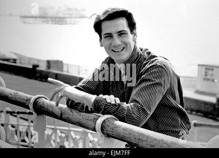 Tony Hadley of the band Spandau Ballet on Brighton seafront Photograph taken 1980's - Stock Photo