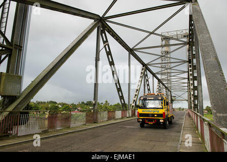 Bridge over the Nickerie River, Suriname - Stock Photo