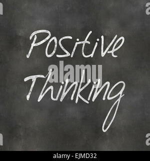 A Colourful 3d Rendered Concept Illustration showing Positive Thinking written on a Blackboard - Stock Photo