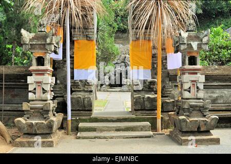 Hindu temple Goa Gajah, Ubud, Bali, Indonesia - Stock Photo