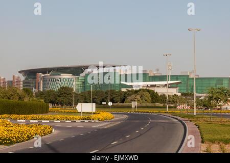 Meydan Race Club  (former Nad Al Sheba Racecourse) in Dubai. December 13, 2014 in Dubai, United Arab Emirates - Stock Photo