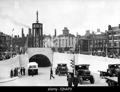 Mersey Tunnel Opening , Liverpool, July 1934 by King George IV and Queen Mary - Stock Photo