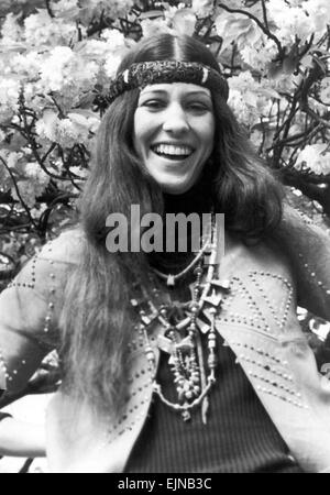 Rita Coolidge, in Regents Park, London, 5th May 1971. - Stock Photo