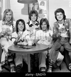 Bay City Rollers pop group. March 1975 - Stock Photo