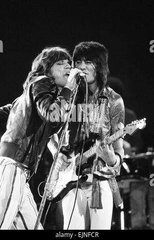 The Rolling Stones in concert at Hemisfair Plaza Arena & Convention Centre, San Antonio, Texas. Mick Jagger and - Stock Photo