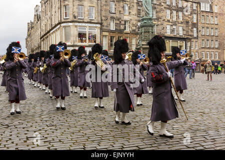 Edinburgh, Scotland, UK. 30th Mar, 2015. The Right Honourable Lord Lyon King of Arms has summoned a new UK Parliament - Stock Photo