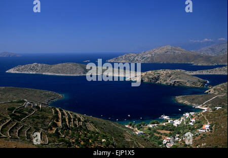 greece, northeastern aegean islands, fourni, kampi bay - Stock Photo