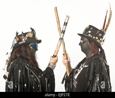 Morris dancers at the Hastings Traditional Jack in the Green Festival. East Sussex. England. UK - Stock Photo