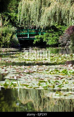 Claude Monet garden giverny departement eure france europe - Stock Photo