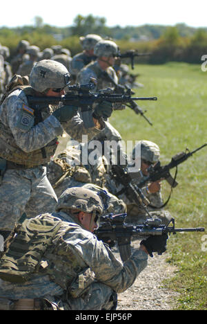 Noncommissioned officers from 1st Battalion, 187th Infantry Regiment, 3rd Brigade Combat Team, 101st Airborne Division - Stock Photo