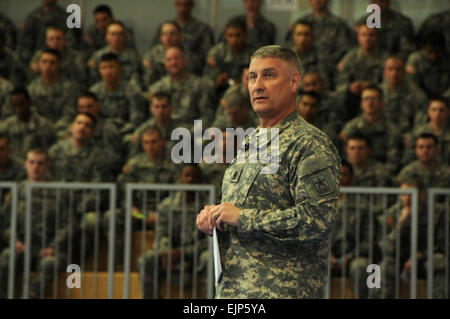 Sgt. Maj. of the Army Raymond F. Chandler III tells Soldiers to always be a professional, and says a Soldier should - Stock Photo