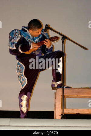 The 25th Infantry Division's 2008 Hispanic Heritage Month Observance was marked by a traditional Bolivian music - Stock Photo