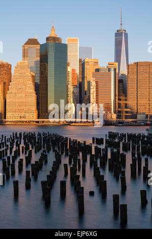 USA, New York City, Downtown Manhattan Financial district, One World Trade Center (Freedom Tower) - Stock Photo